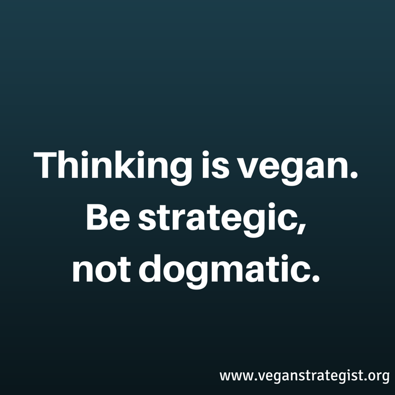 Thinking is vegan