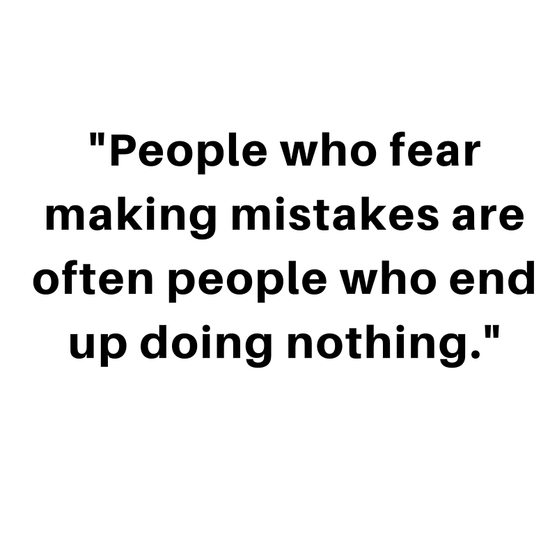 joy - fear making mistakes