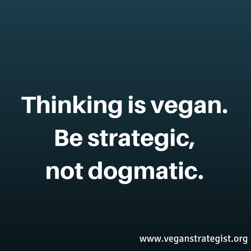 Thinking is vegan