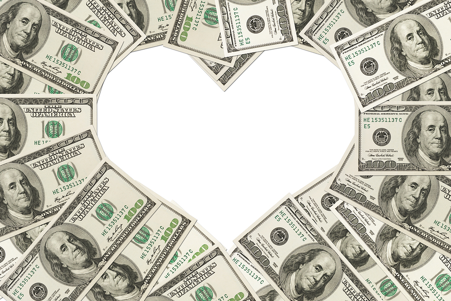 money and a heart